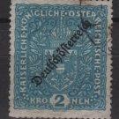 Austria 1918/19 - Scott 196 used  -  2k, Coat of Arms, issue overprinted (8-489
