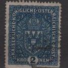 Austria  1916/18 -  Scott 160  used  - 2k, Coat of Arms (8-507)