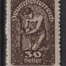 Austria  1919/20 -  Scott 211 MH  - 30h, Allegory of New Republic (8-526)