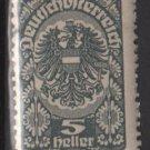 Austria  1919/20  -  Scott  202  MH  - 5h, Coat of Arms  (8-533)