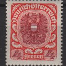 Austria 1920/21  -  Scott  244 used    - 4k, Coat  of Arms (8-581)