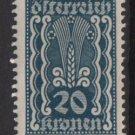 Austria 1922/24  - Scott  260 MH - 20k, Symbols of   Agriculture (8-622)