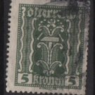 Austria 1922/24  - Scott  255 used  - 5k, Symbols of  Labor & Industry (8-607)