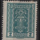 Austria 1922/24  - Scott  252 MH  - 2k, Symbols of  Labor & Industry (8-599)
