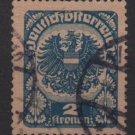 Austria 1920/21  -  Scott   242 used  - 2k,  Coat  of Arms (8-590)