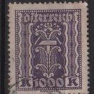 Austria 1922/24  - Scott 281 used - 1000 k, Symbols of  Labor & Industry (8-668)