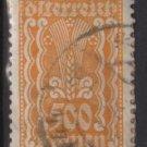 Austria 1922/24  - Scott 277 used - 500 k, Symbols of  Agriculture  (8-660)