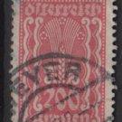 Austria 1922/24  - Scott 273 used - 200 k, Symbols of  Agriculture  (8-658)