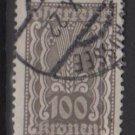 Austria 1922/24  - Scott  268 used - 100k,  Symbols of  Agriculture  (8-645)