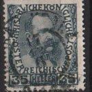 Austria 1908/13 - Scott 120  used - 35h,  Franz Josef  (8-687)