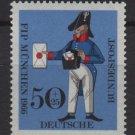 Germany semi postal 1966 - Scott B417 MMH - 50 + 25 pf, FIP, Prussian letter Carrier (9-368)