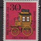 Germany semi postal 1966 - Scott B416 MMH - 30 + 10 pf, FIP, Bavarian Mail coach (9-366)