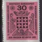 """Germany 1967 - Scott 972 MNH - 30pf, """"peace is Among Us"""", Protestant meeting (9-347)"""