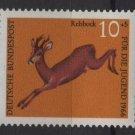 Germany semi postal 1966 - Scott B412 MNH - 10 + 5 pf, Animals, Roe Deer (9-394)