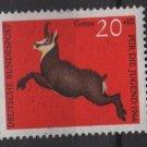 Germany semi postal 1966 -Scott B413 MNH - 20 + 10 pf, Animals, Chamois (9-392)