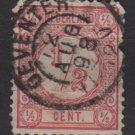 Netherlands 1876 - Scott 34 used - 1/2c, Numeral   (8-400)