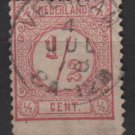 Netherlands 1876 - Scott 34a  used - 1/2c, Numeral   (8-500)
