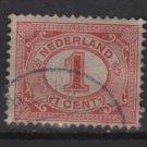 Netherlands 1898 - Scott 56 used - 1c, Numeral  (8-508)