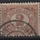 Netherlands 1898 - Scott 59 used - 2c, Numeral  (9-457)