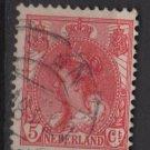 Netherlands 1898 - Scott 65 used - 5c, Queen Wilhelmina   (9-460)