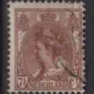 Netherlands 1898 - Scott 66 used - 7.1/2c, Queen Wilhelmina   (9-462)