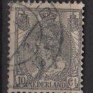 Netherlands 1898 - Scott 67 used - 10c, Queen Wilhelmina   (9-463)