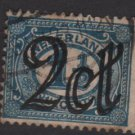Netherlands 1923 - Scott 118  used -2c on 1.1/2c  Overprinted issue  (9-482)