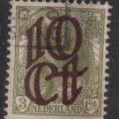 Netherlands 1923 - - Scott  119 used – 10c on 3c,  Overprinted issue  (9-483)