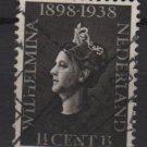 Netherlands 1938 - Scott 209 used – 1.1/2c,  Queen Wilhelmina (9-523)