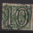 NETHERLANDS 1940 -  Scott  229 used  – 10c on 3c, Gull type of´ 24/26  surcharged (9-553)