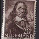 Netherlands 1943/1944 - Scott 257 MH – 20c, Witte de With  (9-570)