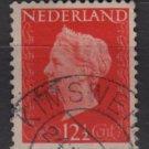 Netherlands 1947/48 - Scott 290 used - 12.1/2c, Queen Wilhelmina   (9-590)