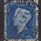 NETHERLANDS 1947/48 - Scott  294 used - 25c,  Queen Wilhelmina (9-596)