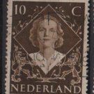NETHERLANDS 1948 - Scott 304 used -10c, Investiture of Queen Juliana (9-605)