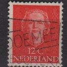 NETHERLANDS 1949 - Scott 309 used - 12c, Queen Juliana (9-611)