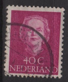 NETHERLANDS 1949 - Scott 315 used - 40c, Queen Juliana (9-619)