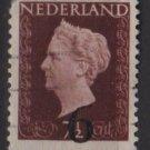 NETHERLANDS 1950  - Scott 330 used - 6c on 7.1/2c, Queen Wilhelmina overprinted (9-631)