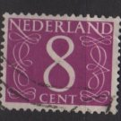 Netherlands 1953/57 - Scott 343A used - 8c, Numeral type of ´46   (9-644)