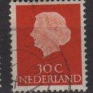 Netherlands 1953/71 - Scott 349 used - 30c, Queen Juliana (9-661)