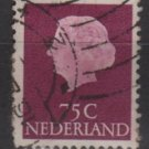 Netherlands 1953/71 - Scott  358  used - 75c, Queen Juliana (9-677)