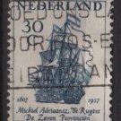 Netherlands 1957 - Scott  371  used -  30c, Admiral M.A. De Ruyter , Flagship   (9-693)