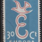 Netherlands 1958 - Scott  376  used -  30c , Europa issue (9-700)