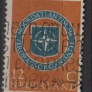 Netherlands 1959 - Scott 377 used - 12c, NATO Emblem  (9-701)