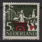 Netherlands 1963 - Scott 419 used – 5c, 150th of the founding   (9-726)