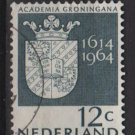 Netherlands 1964 - Scott 423 used - 12c, Arms of Groningen University (9-736)