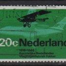 Netherlands 1968 - Scott 456 used - 20c, Plane  (9-761)