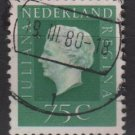 Netherlands 1969/75 - Scott 467 used - 75c, Queen Juliana  (9-782)