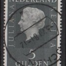 Netherlands 1969/75 - Scott 473 used - 5g, Queen Juliana  (9-792)