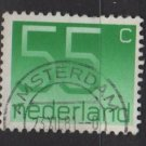 Netherlands 1976/86 - Scott 543 used - 55c, Numeral  (9-821)