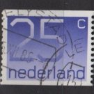 Netherlands 1976/86 - Scott  548 coil, used - 25c, Numeral (9-831)